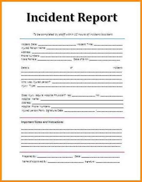 3 incident report sample workout spreadsheet