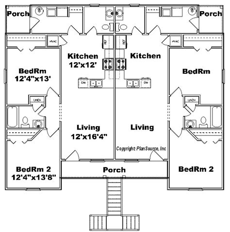 fourplex floor plans fourplex plan j918 4