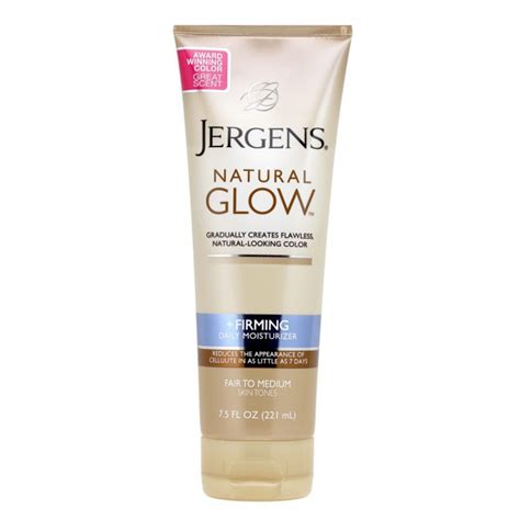 Glowing Daily Glow Siang Glow buy glow firming daily moisturiser fair to medium 221 ml by jergens priceline