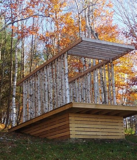 pavillon forst in a vermont forest architecture students design and