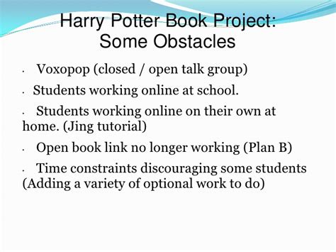 jing tutorial powerpoint harry potter book project