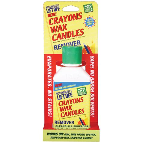 how to get candle wax off upholstery lift off crayon candle wax remover 4 5 ounces home