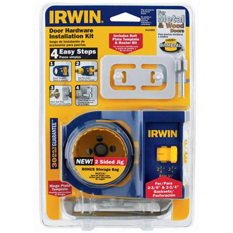 Door Knob Drill Kit by Irwin Industrial Tool 3111002 Door Lock Installation Kit