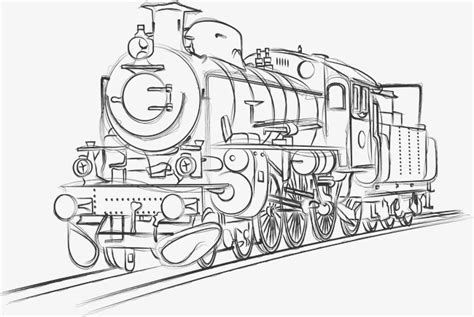 colour my sketchbook steam sketches pencils hand drawn manuscripts old trains sketch steam train pencil hand png