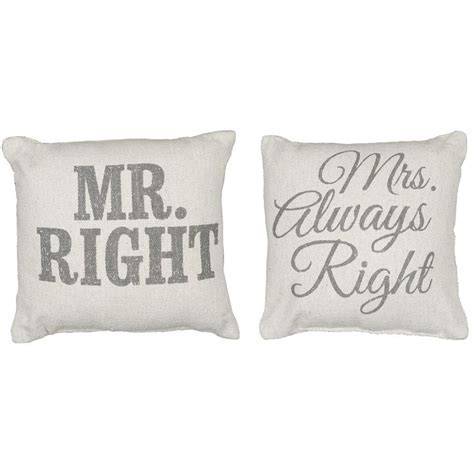 Rustic Mr/Mrs. Right Accent Pillows   Bridal Shower Ideas