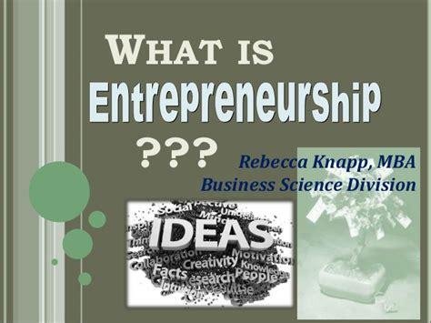 Mba Entrepreneurship Meaning by Entrepreneurship For Veterans