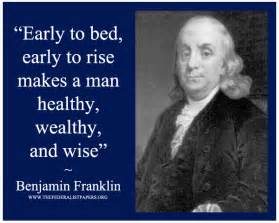 early to bed early to rise benjamin franklin poster early to bed early to rise