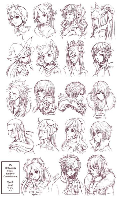 deviantart anime haircut inspiration hair expressions manga art drawing