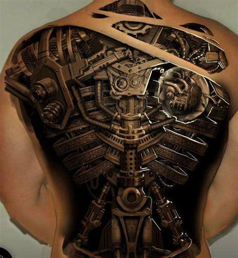 tattoo 3d on back 30 awesome steunk tattoo designs 3d tattoo and tatting