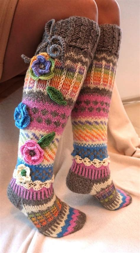 28 15 Crochet Knit Pattern For Knee Socks Diy To Make