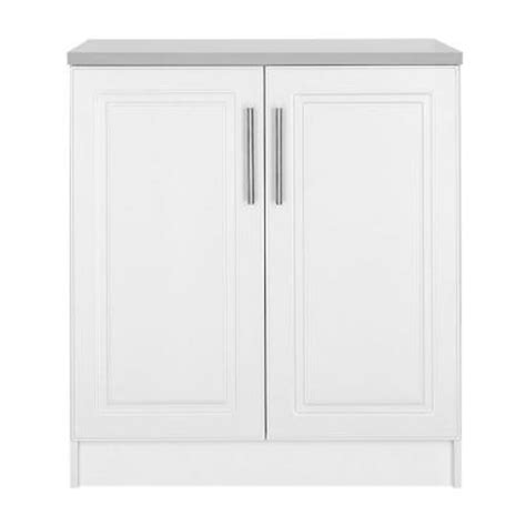 White Mdf Cabinet Doors Hton Bay Select Mdf 2 Door Base Cabinet In White Thd90068 6a St The Home Depot