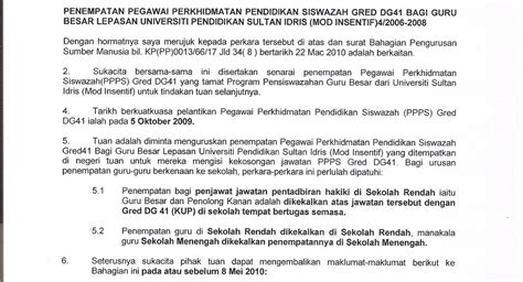 panas inilah surat punca kuasa alumni ppgb kohort 5b upsi 2006