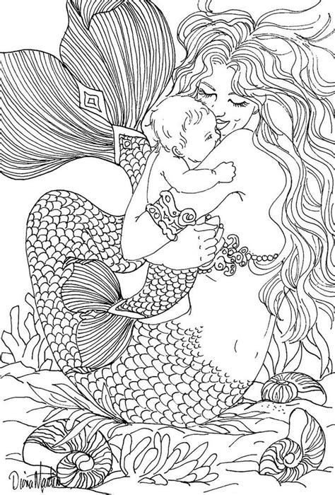 interesting coloring pages for adults free printable coloring pages for adults mermaids