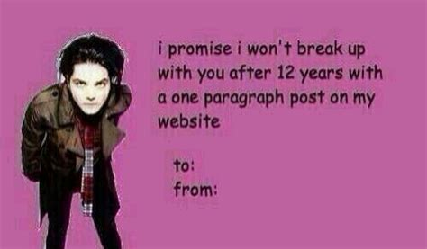 my chemical valentines cards gerard way cards