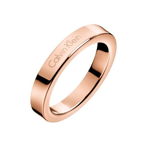 Ck Boxy Ring calvin klein hook ring kj06pr1001 stainless steel pink gold