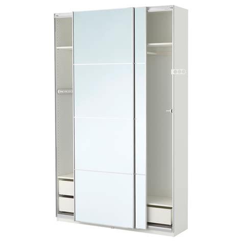 ikea pax wardrobe mirror pax wardrobe white auli mirror glass 150x44x236 cm ikea