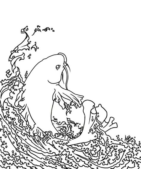 coloring page koi fish koi fish coloring pages coloring home