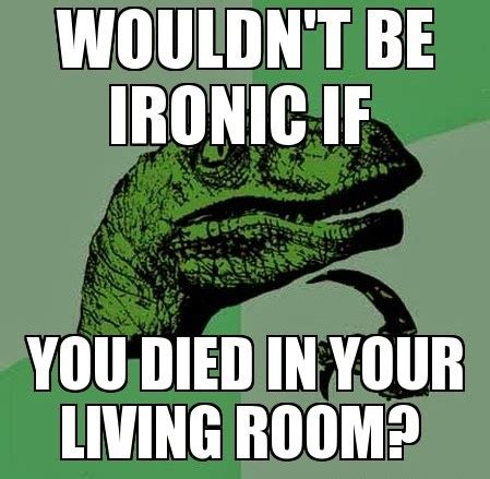 Ironic Memes - wouldn t it be ironic if you died in your living room