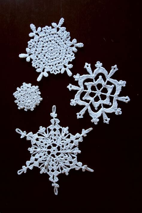 over 100 snowflake patterns crocheted snowflakes pinterest