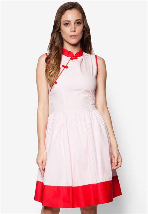 dress cheongsam pink pink cheongsam dress pink qipao modern cheongsam simple by