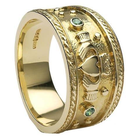 mens gold claddagh ring mg clad32