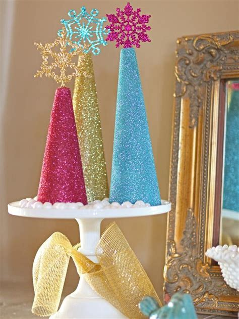 christmas decorations made at home modern furniture how to make glitter christmas tree