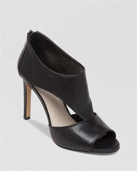 high heel booties for vince camuto open toe booties seenai high heel in black