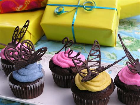 Cupcake Decorations by Chocolate Butterfly Cake Decorations Diy