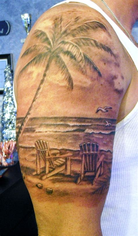 tropical beach tattoo designs by stevie lange moonlight tattoos
