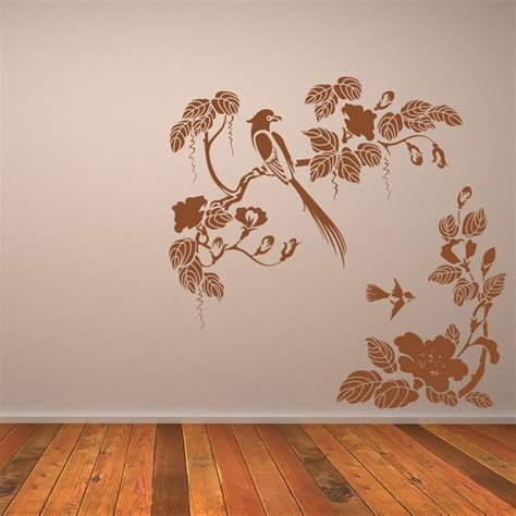 floral wall stickers birds flowers corner floral animal wall sticker wall