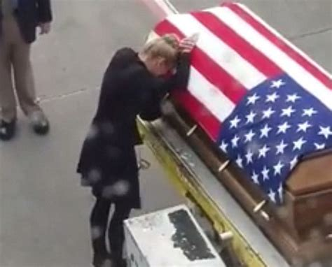 flag draped coffin army vet s widow says tear jerking goodbye to her husband
