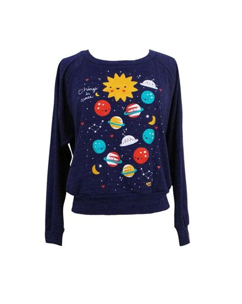 Outer Sweater outer space sweater galaxy planets raglan by emandsprout 26 00 sweaters
