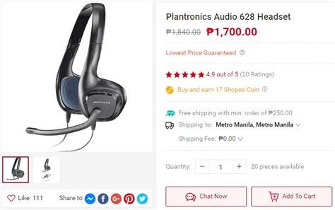 Sale Plantronics Headset Audio 628 top 10 shopee item wishlist from gadgets and tech ph