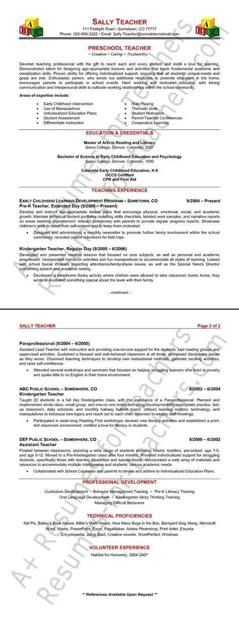 kindergarten teacher resume examples superb teacher resume sample