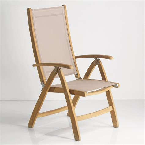 teak sling chair rivera teak sling reclining chair and foot rest ebay