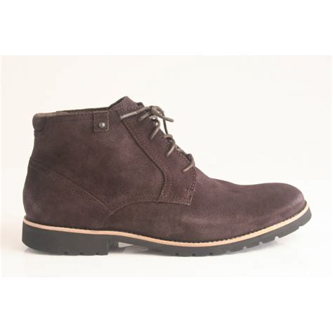 rockport boots rockport ledge hill lace up boot in soft brown suede
