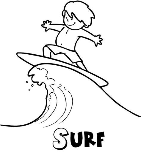 dibujos infantiles para colorear del verano surf en verano dibujos para colorear