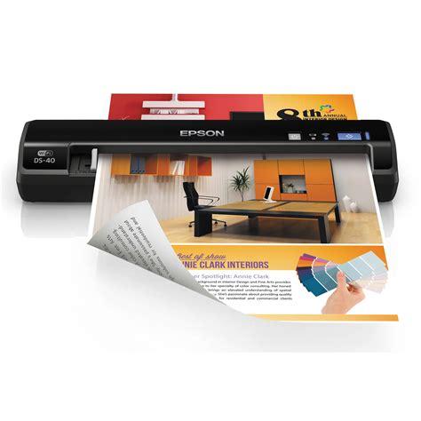 portable color printer epson workforce ds 40 wireless portable color b11b225201 b h