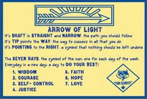 arrow of light poster cub scouts sons