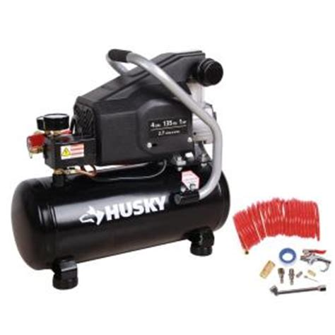 husky 4 gal portable electric powered air compressor