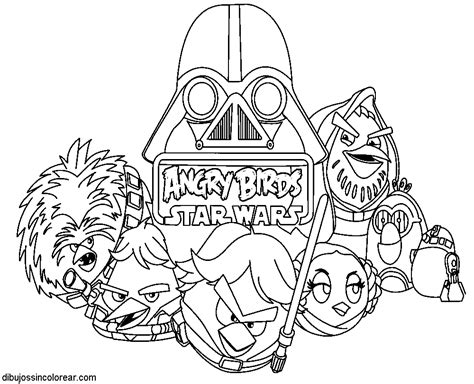 angry birds wars rebels coloring pages dibujos colorear dibujos de angry birds wars