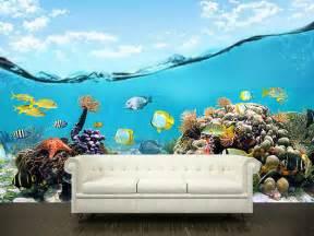 Underwater Wall Murals Wall Sticker Mural Ocean Sea Underwater Decole Film Poster