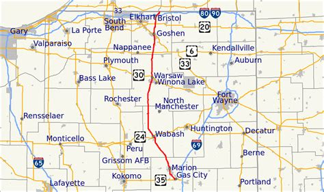 file map of indiana state road 15 svg