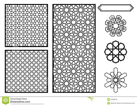traditional islamic pattern vector traditional middle eastern islamic patterns stock vector