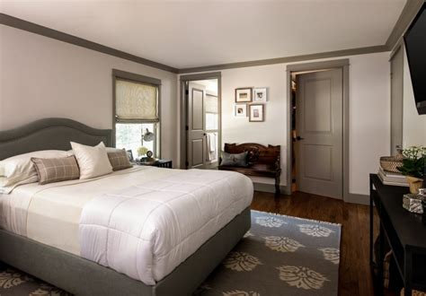 master bedroom new gray wall color white trim stately balancing the small details on your house using the best