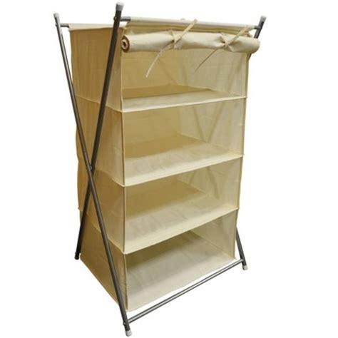 buy ambry pop up folding 4 tier storage shelf with