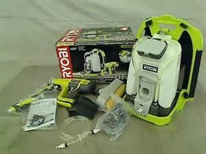 ryobi one 18v cordless backpack power paint sprayer ebay