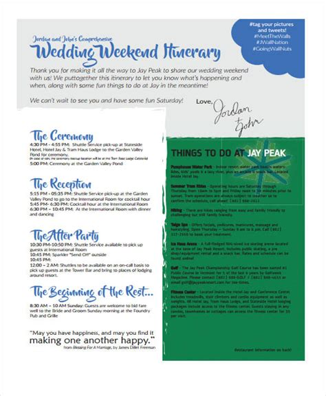 5 Weekend Itinerary Templates Free Sle Exle Format Download Free Premium Templates Weekend Itinerary Template