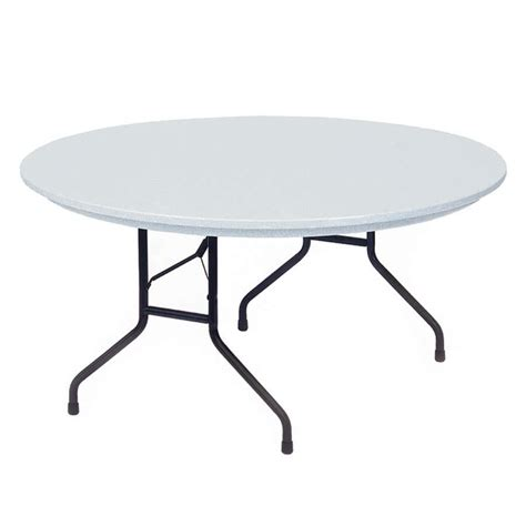 folding table correll rx60r 60 quot round gray plastic ter resistant