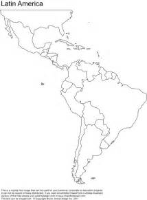 america printable blank map south america